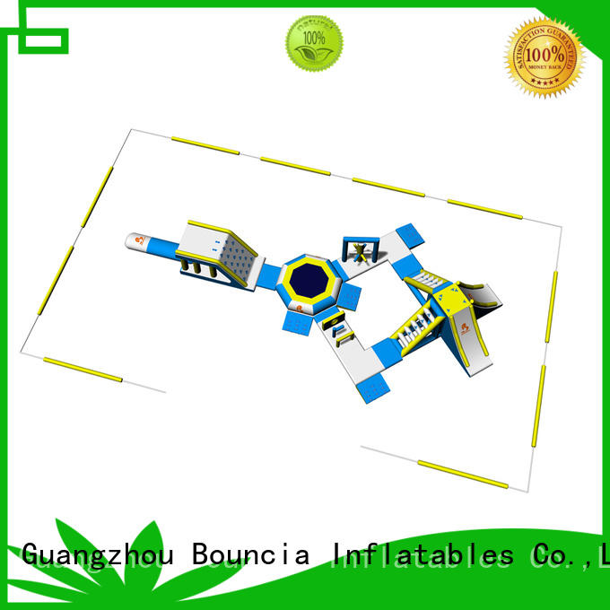 kids certification theme blow up water park Bouncia Brand