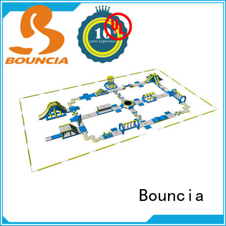 certificated big inflatable water park in stock 100 people for lake