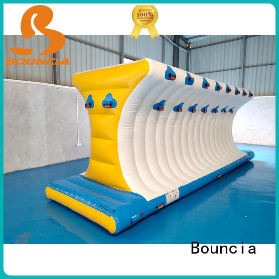 Bouncia jumping platform inflatable water world for pool