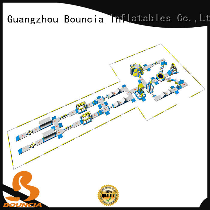 Bouncia floating inflatable water slides for adults from China for outdoors