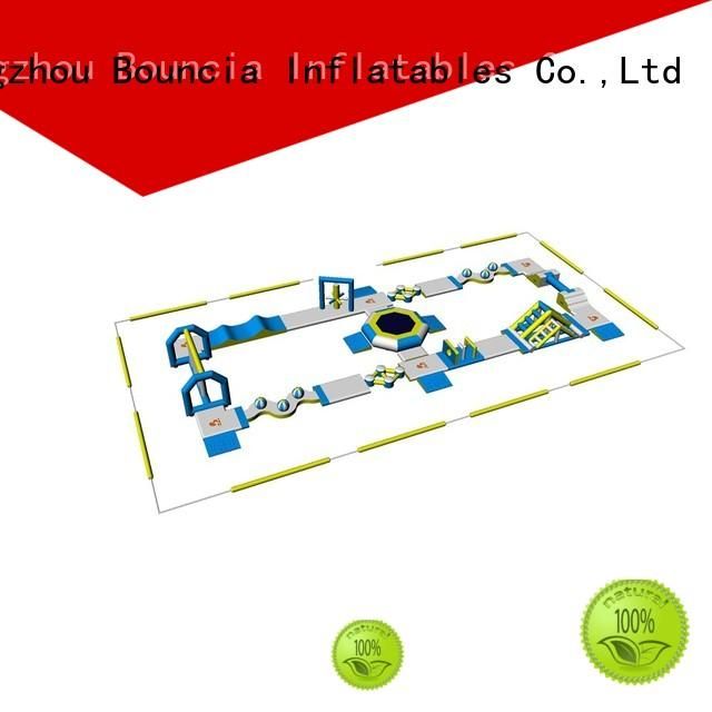 play certificate OEM blow up water park Bouncia