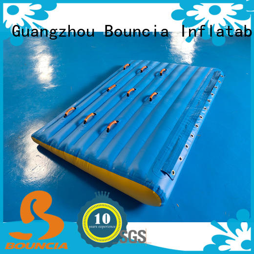 Bouncia tarpaulin inflatable floating playground for outdoors