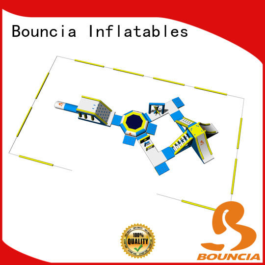 Bouncia park inflatable waterslides supplier for lake