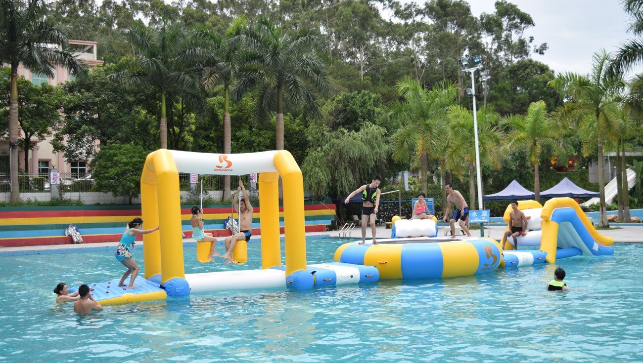 Bouncia -Bouncia Products Test In Commercial Swimming Pool | News On Bouncia Inflatables-1