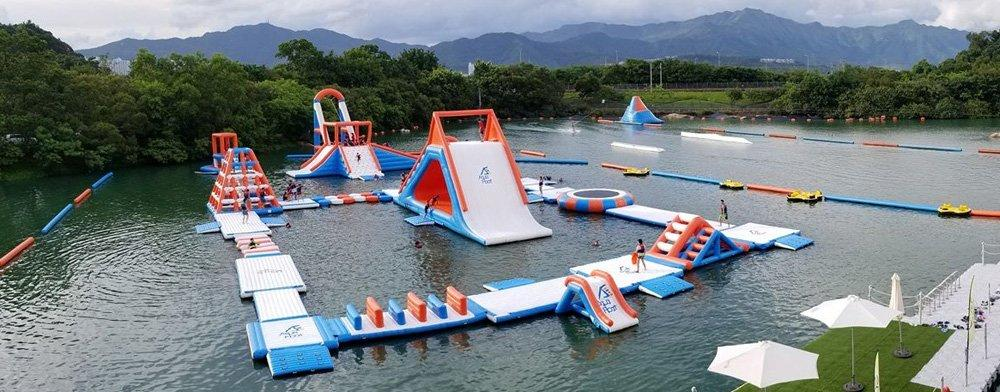 Inflatable Floating Water Obstacle Course / Aqua Park Manufacturer