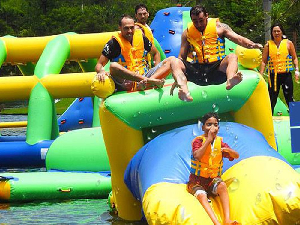 Bouncia -Inflatable Floating Water Park Games For Adults With Tuv Certificate |-21