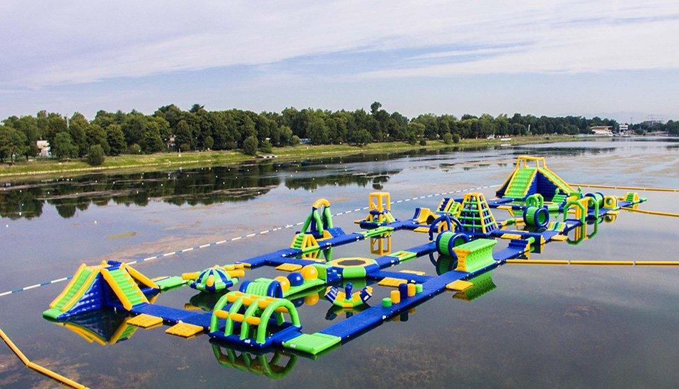 Milano Giant Inflatable Water Park Toys For Sale