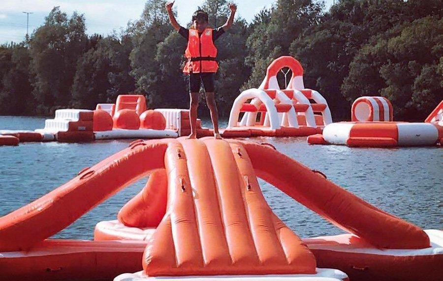 210 People Inflatable Outdoor Water Theme Park Manufacturer