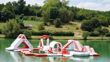Lake Inflatable Water Park In France