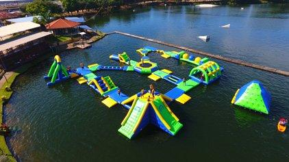 Inflatable Floating Water Park In Brazil