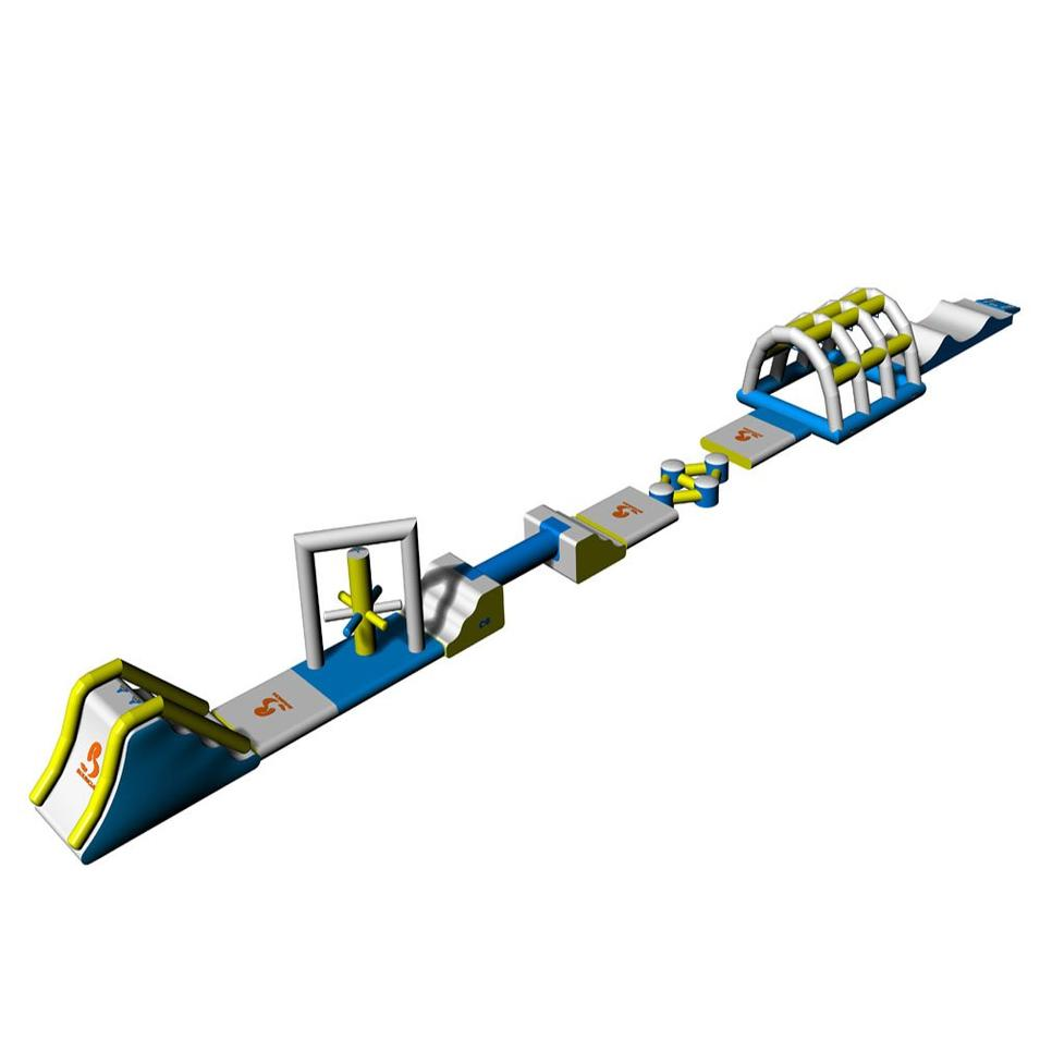 Pool Inflatable Water Park Sport Games With Slide