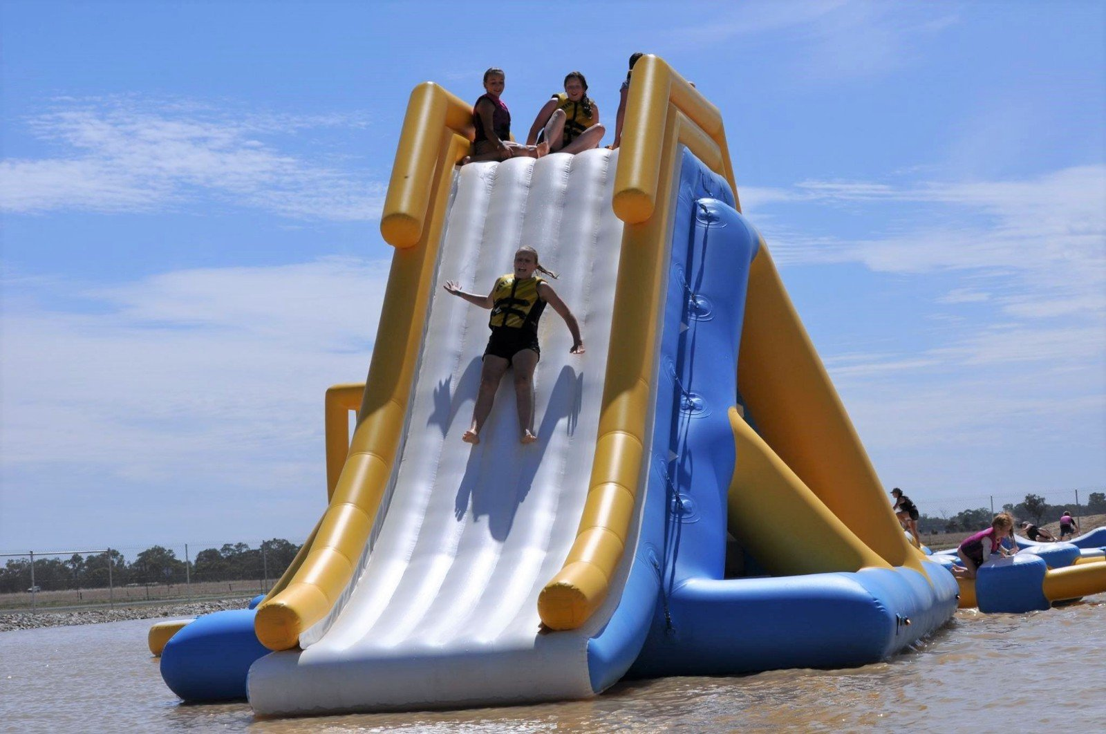 Bouncia tarpaulin giant inflatable water slide customized for adults-23