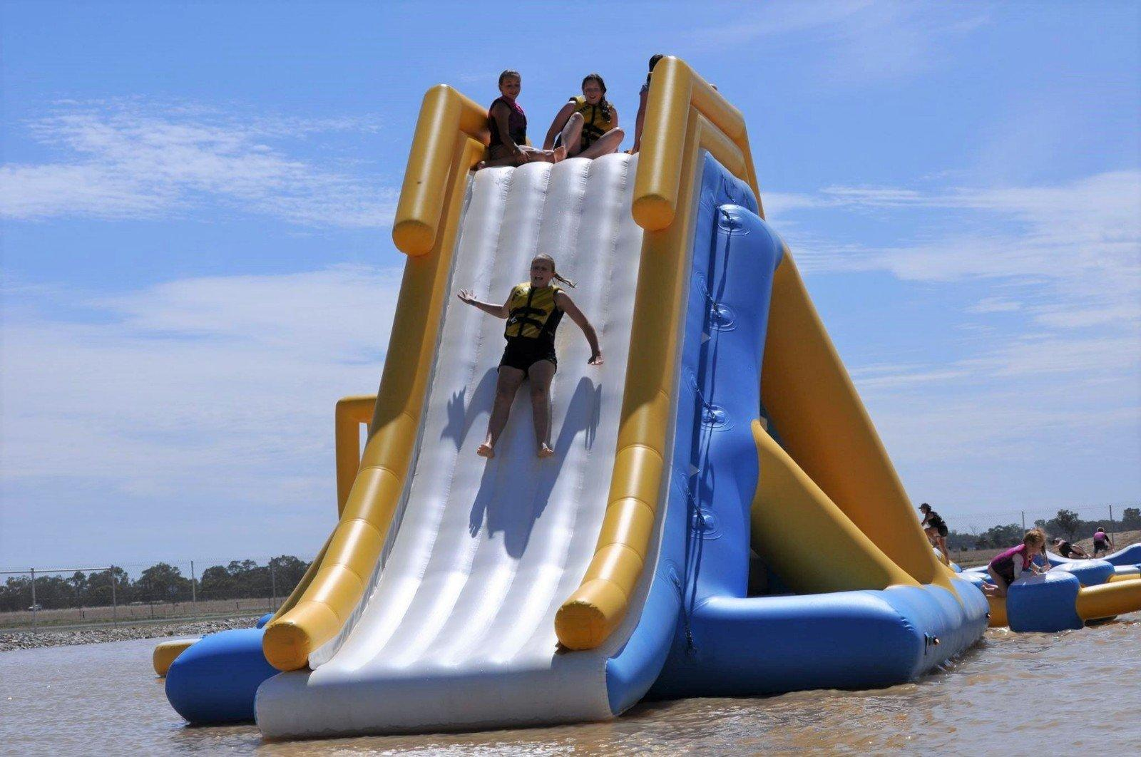 Bouncia tuv inflatable backyard water park series for outdoors