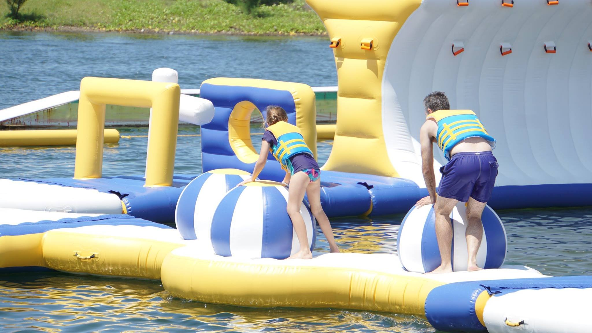 large inflatable water park tarpaulin manufacturer for lake-25