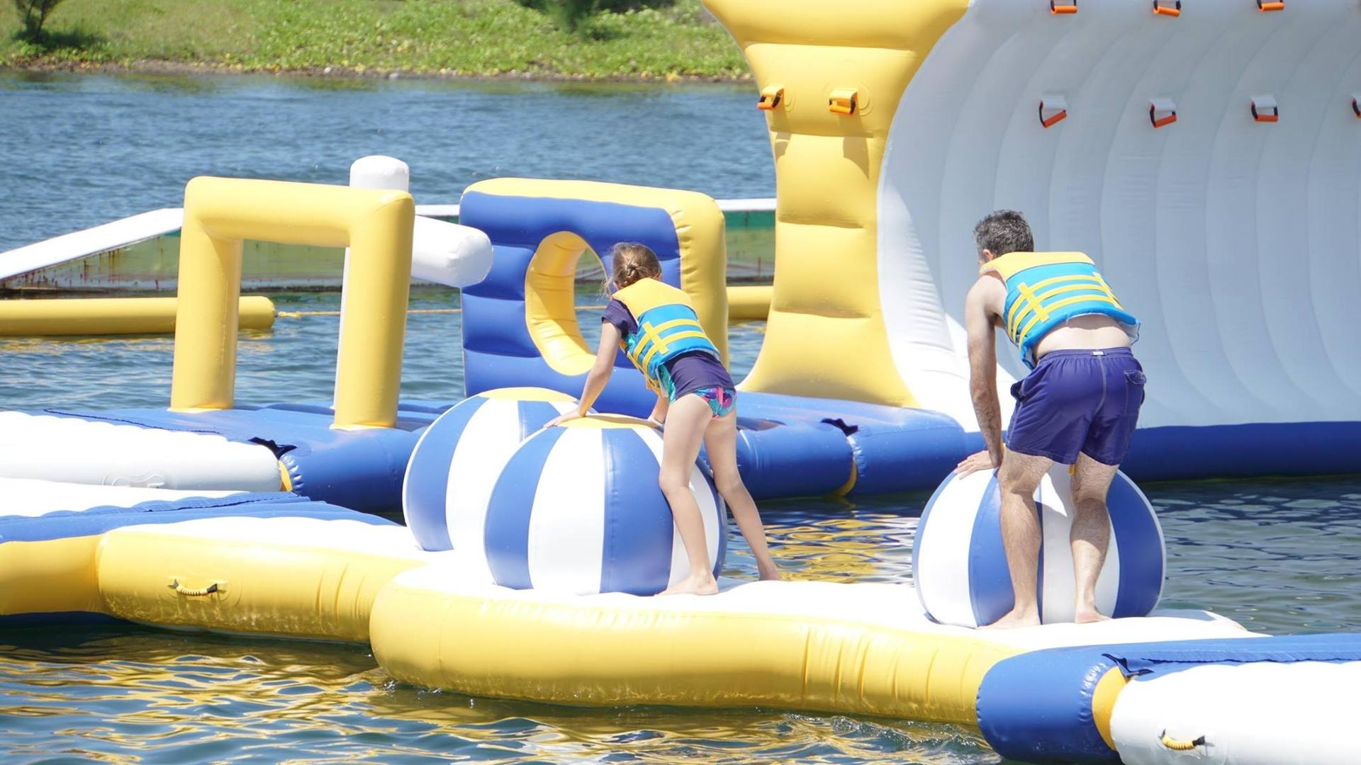 large inflatable water park tarpaulin manufacturer for lake