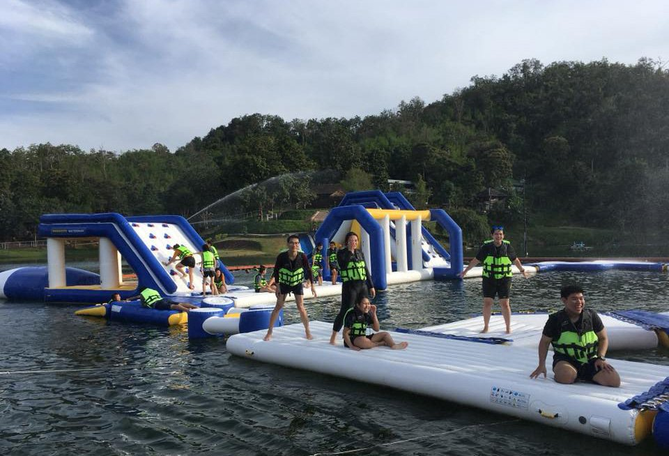 certificated inflatable floating water park games wholesale for kids-24