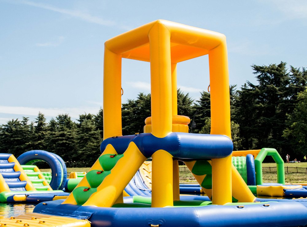 Bouncia climbing lake inflatables manufacturer for pool-4