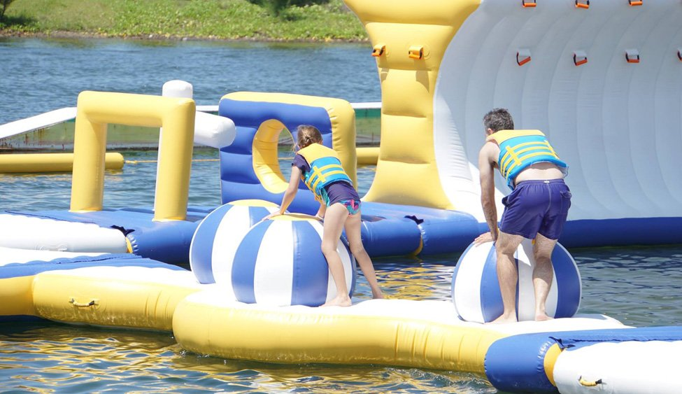 Bouncia climbing inflatable water park games for pool-2
