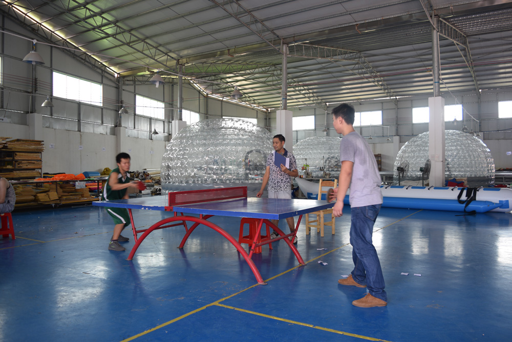 Bouncia -Read Basket ball match during factory sports meeting News On Bouncia Inflatables-2