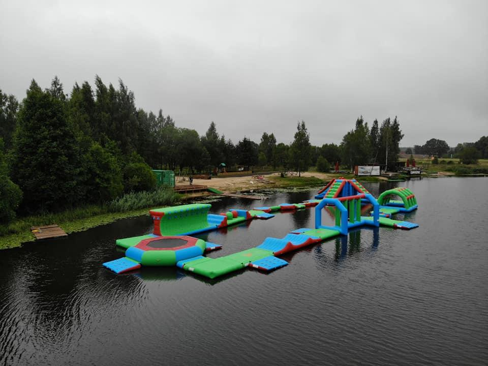 2019 New Floating Inflatable Water Park For Lake / Aqua Inflatable Water Games Manufacturer