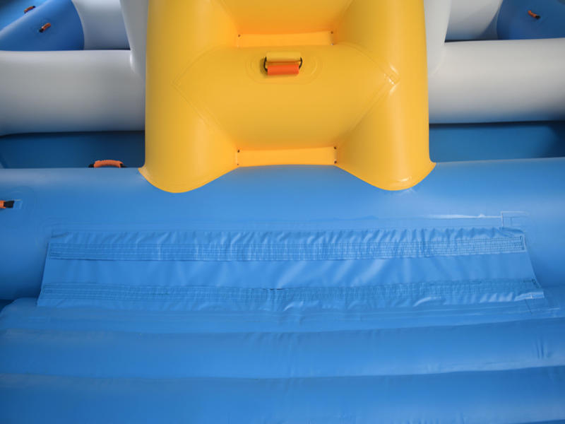 tarpaulin inflatable float trampoline Bouncia company