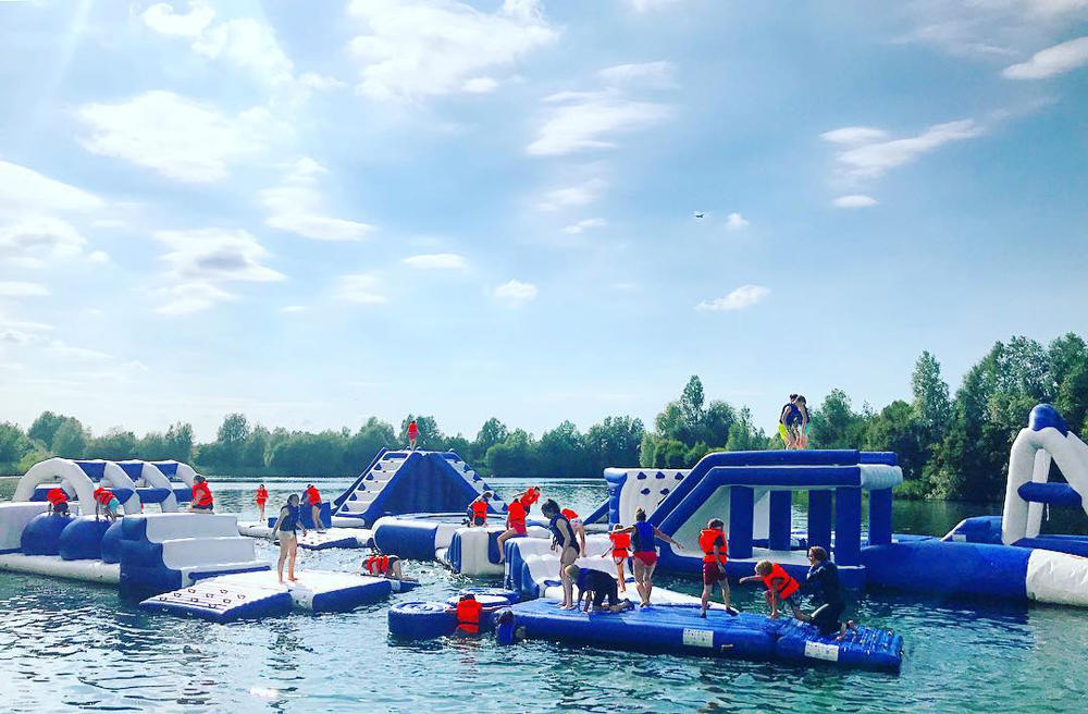 UK Inflatable Floating Aqua Park Equipment