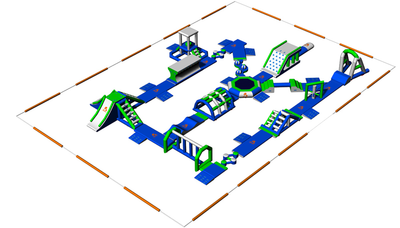 Bouncia -High-quality 100 People Inflatable Aquapark Water Park For Lake | Netherland