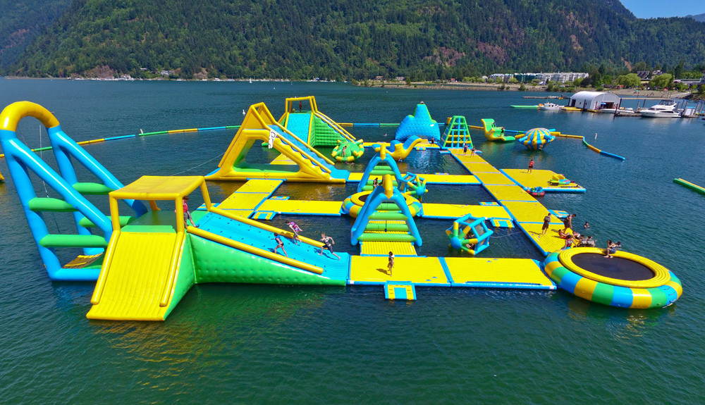 Bouncia harrison floating water park for sale for business for lake-16