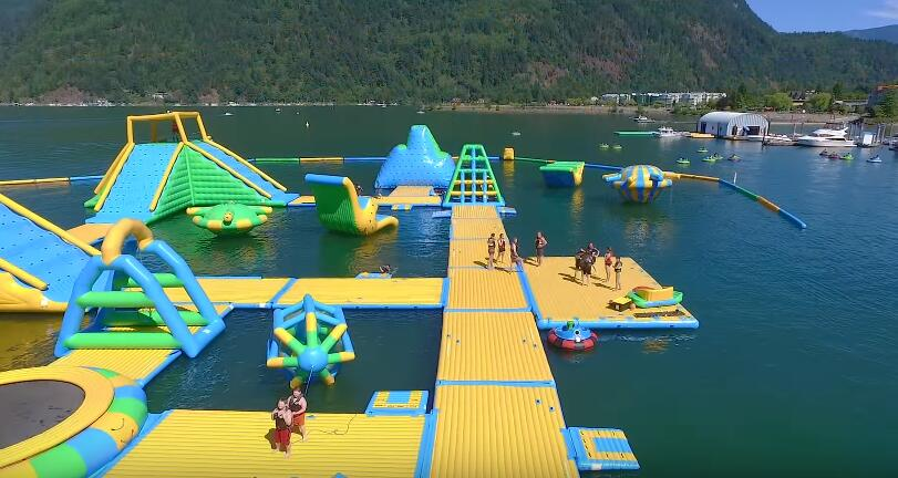 Bouncia harrison floating water park for sale for business for lake-17