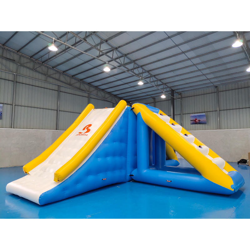 Inflatable Floating Slide Tower With 0.9mm PVC Tarpaulin