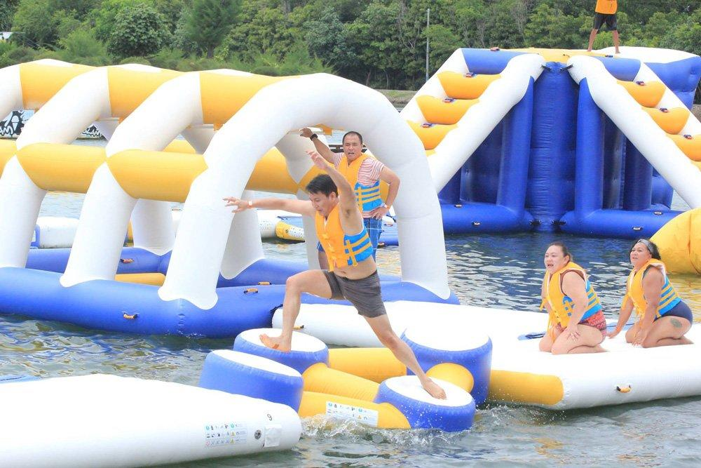 Bouncia floating inflatable water fun directly sale for outdoors