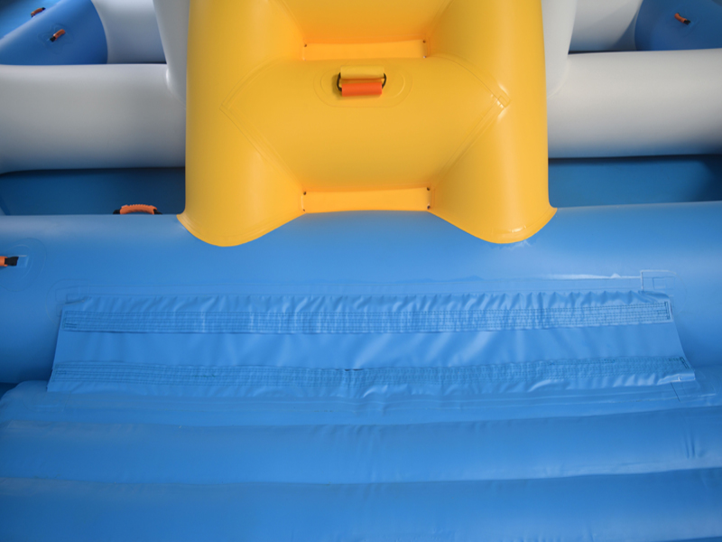 floating inflatable water slide for sale splash supplier for lake-25