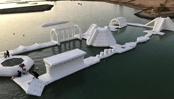 Inflatable Aqua Park Installed In Egypt