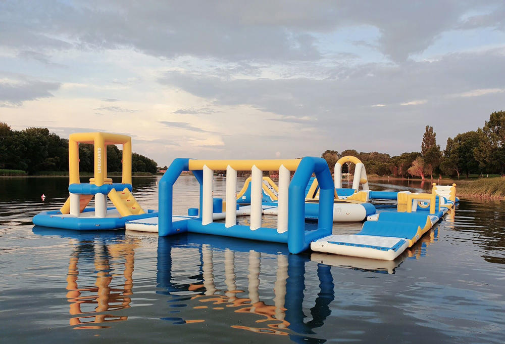 Inflatable Water Sport Park / Kids Inflatable Aqua Park For Lake