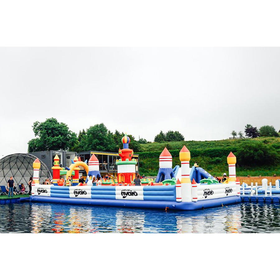 2020 New Design Inflatable Fun City Playground / Inflatable Castle Park With Water For Sale