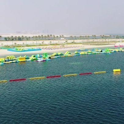 The Longest Inflatable Water Park In Bahrain
