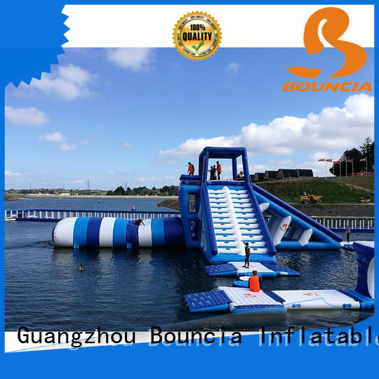 Bouncia trampoline inflatable park customized for pool