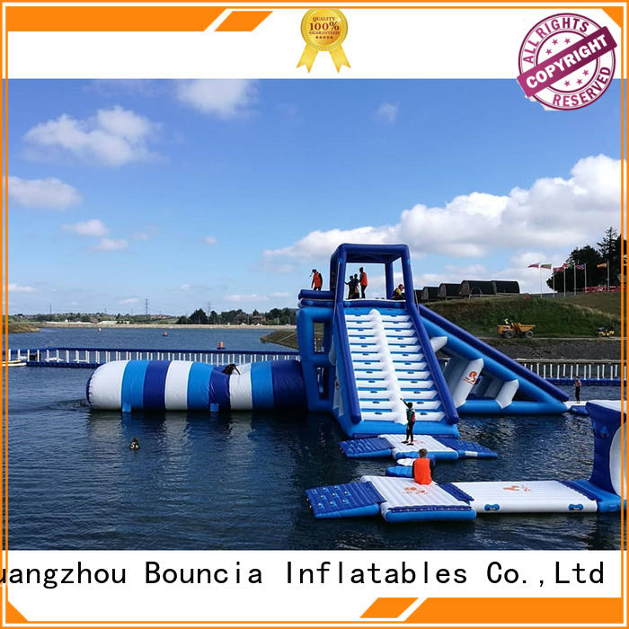 Wholesale tower inflatable water games Bouncia Brand