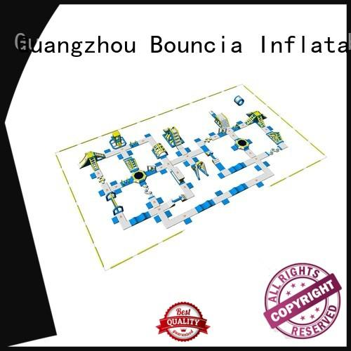 Bouncia certificated giant inflatable floating water park tuv for outdoors
