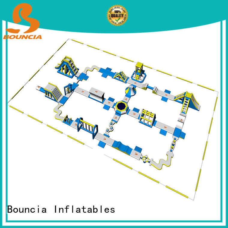 Bouncia sports inflatable floating water park personalized for lake