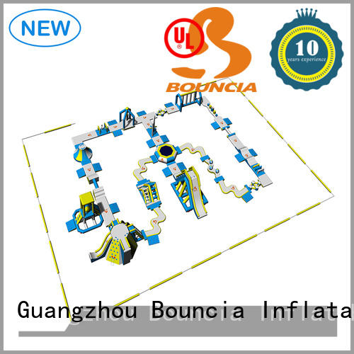 Bouncia splash water inflatables for lakes for kids