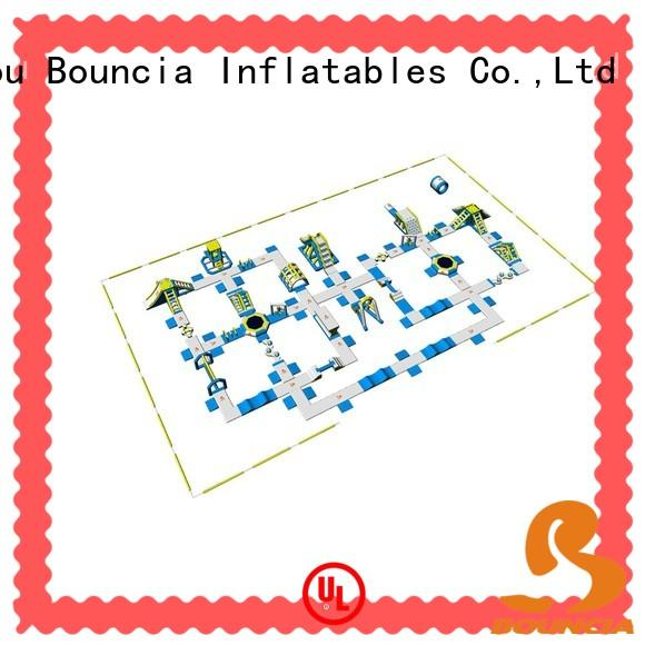Bouncia certificated inflatable water obstacle course from China for outdoors