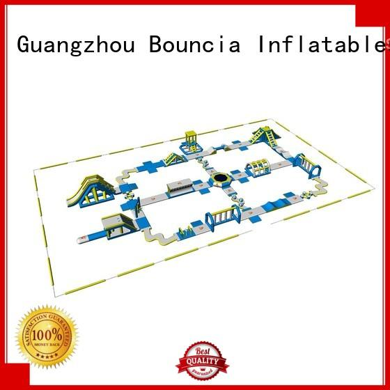 Hot slipping inflatable float business Bouncia Brand