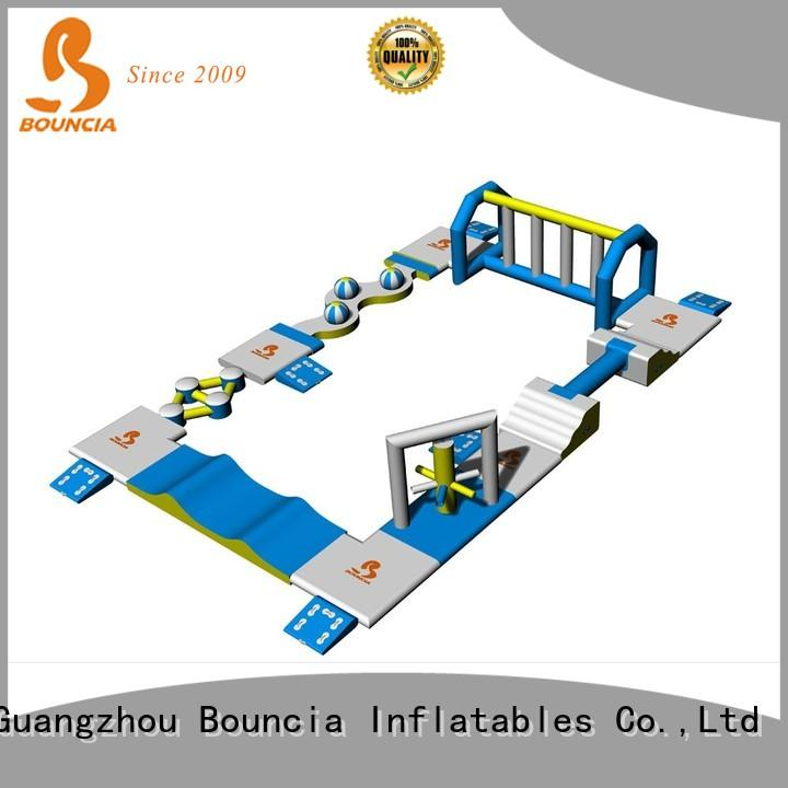 Bouncia floating inflatable water toys manufacturer for pools