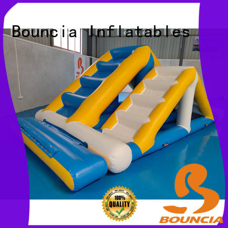 double inflatable water slide for lake ramp customized for outdoors