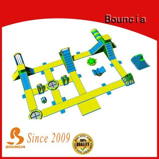 Bouncia harrison floating inflatable obstacle course manufacturers for outdoors