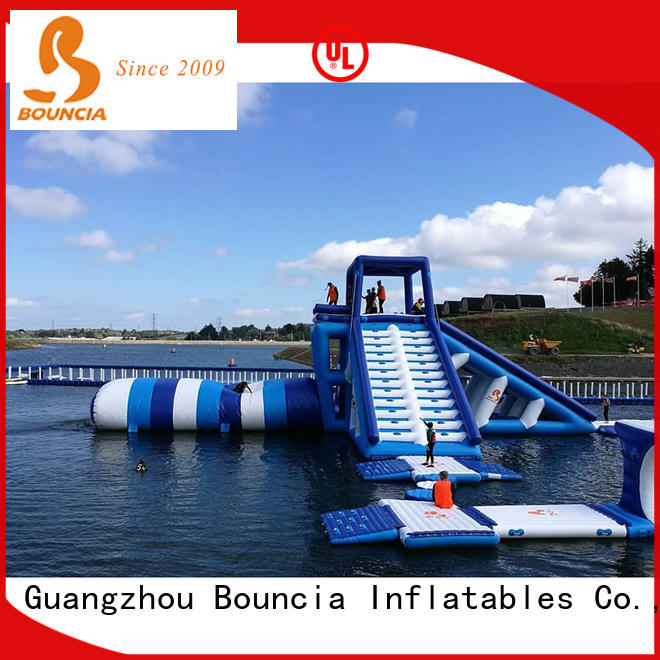 Bouncia inflatable lake obstacle course for outdoors