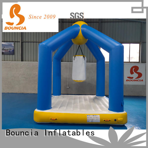 stable inflatable obstacles jumping platform customized for pool