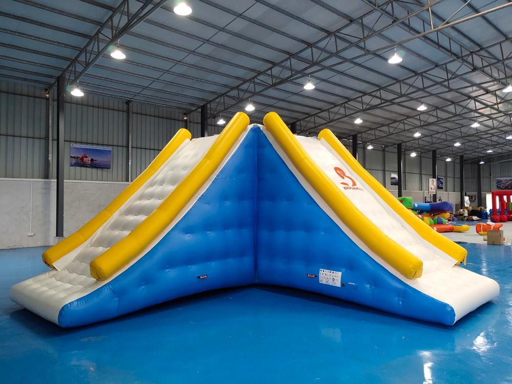 Bouncia -Best Inflatable Floating Slide Tower With 09mm Pvc Tarpaulin Water Obstacle