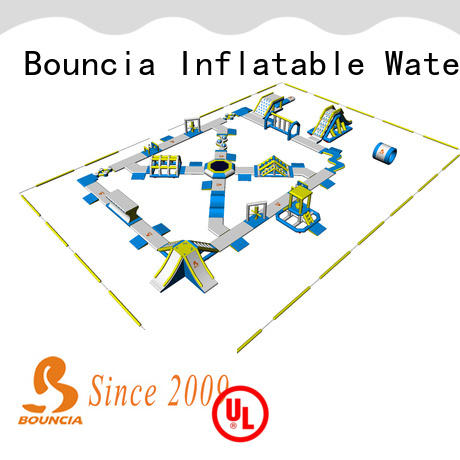 Bouncia splash inflatable lake water park for business for kids